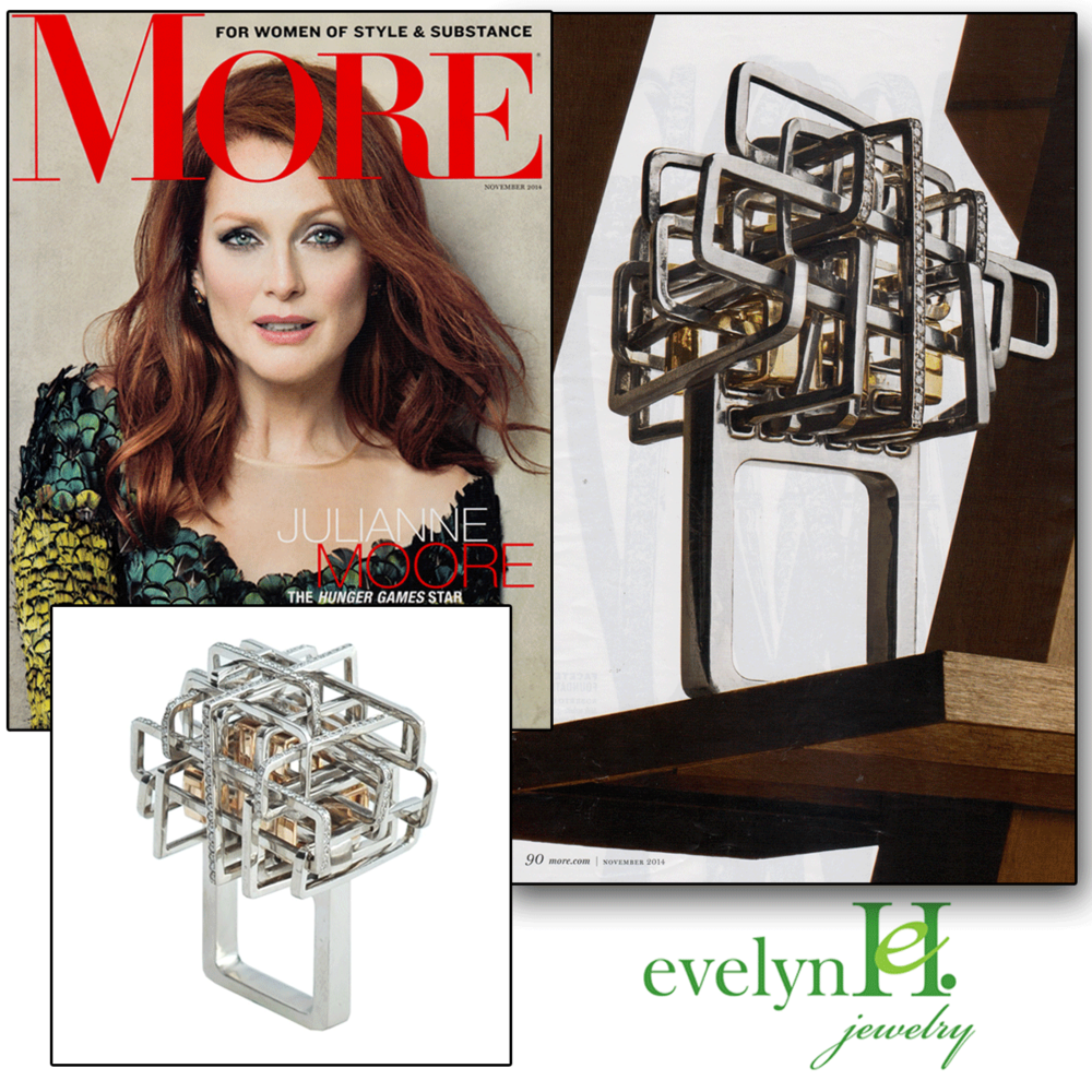 evelynH.'s unconventional geometric ring is featured within the November 2014 issue of MORE Magazine!