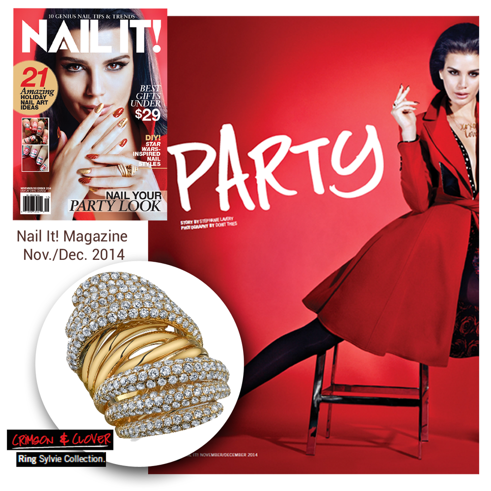Nail It! Magazine nailed the fall issue! A Sylvie Collection ring (above), Daniel Gibbings jewels (below) and Tiffany Chou's easy-to-wear pieces (below) are all feat. in the latest issue of the magazine.