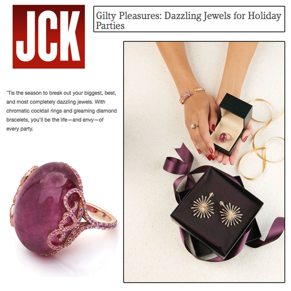 This V.Tse cocktail ring is definitely on top of our holiday wish list! Thanks JCK Magazine online for featuring.