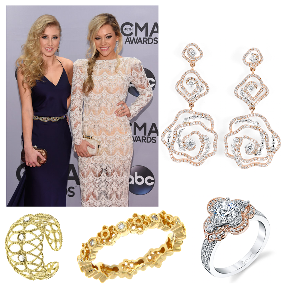 Country music star, Taylor Dye of music duo, Maddie and Tae, adorned in beautiful jewels by Michael John Jewelry, Supreme Jewelry, Stroili and Sylvie Collection at the Country Music Awards!