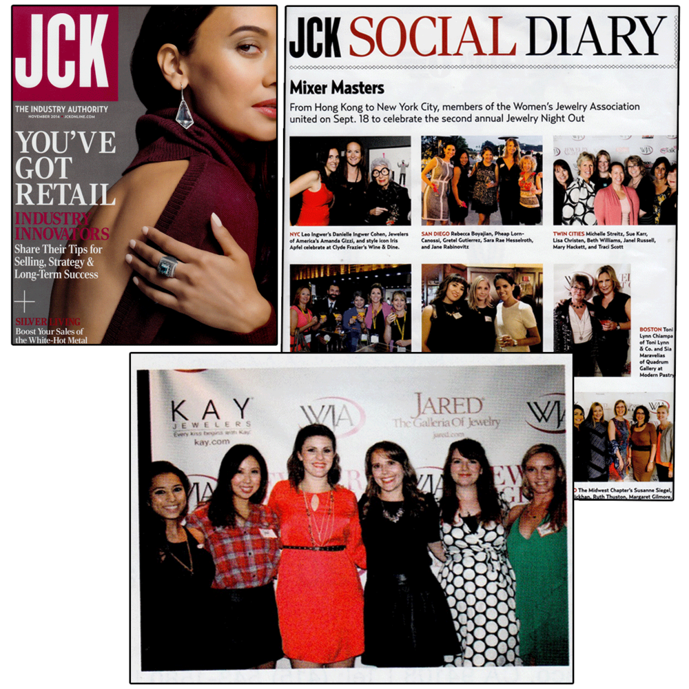 """LBG's Managing Director, Jen Cullen Williams was spotted in JCK's November issue in their """"Social Diary"""" section!"""