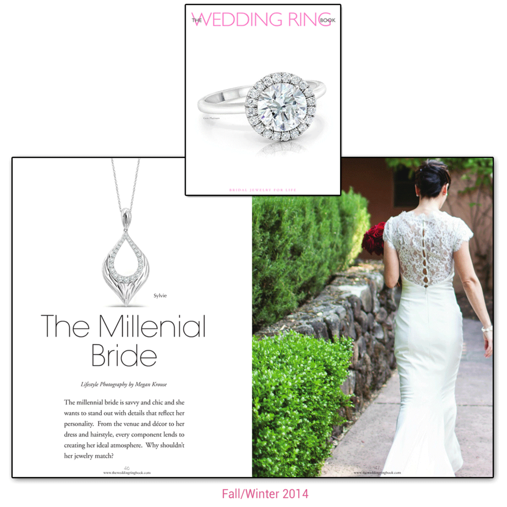 Sylvie Collection, CARIZZA(below), Michael John Jewelry(below)and Jewelers unBLOCKed(below)are all featured within the Fall/Winter 2014 edition of The Wedding Ring Book!