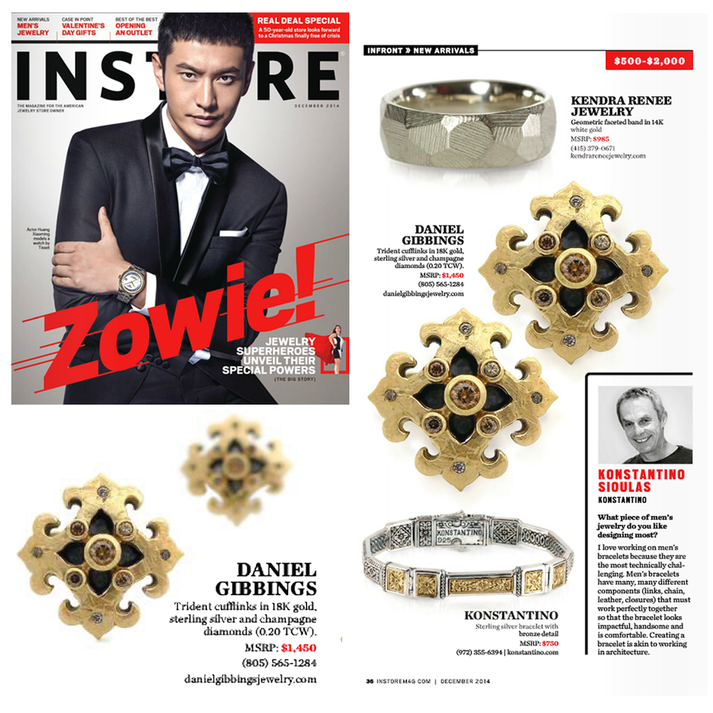 New arrivals! Daniel Gibbings and Supreme Jewelry(below)cufflinks are featured within the December edition of INSTORE Magazine!