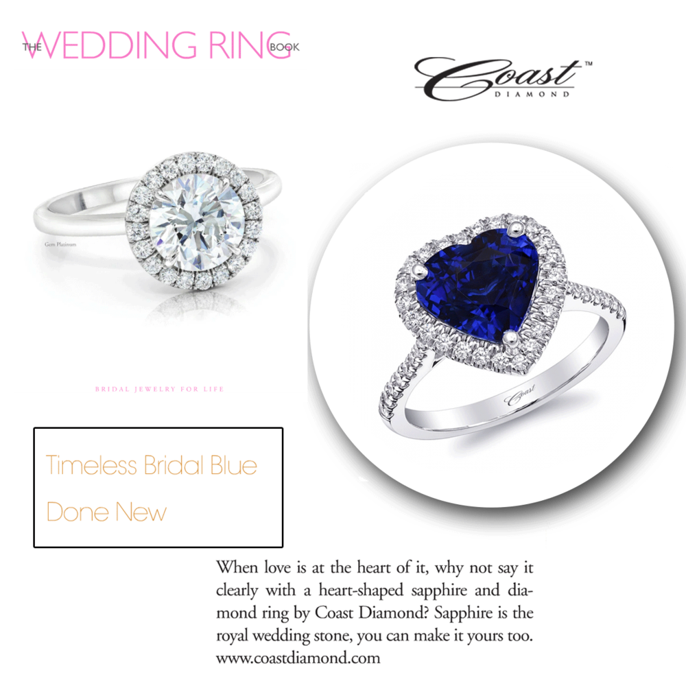 This timeless heart-shaped sapphire ring by Coast Diamond is absolutely surreal! Check it out in the latest issue ofThe Wedding Ring Book!