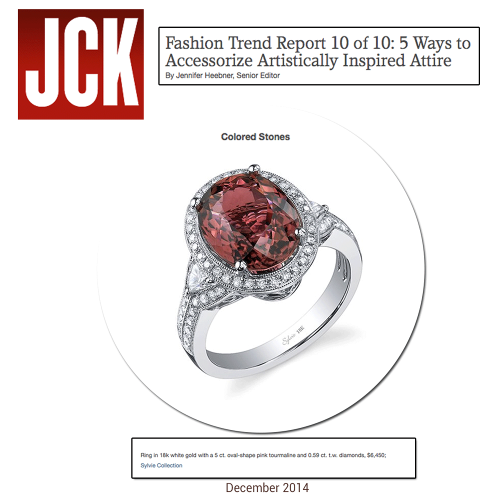 Trend alert! Accessorizing with marsala inspired jewels is the perfect way to spice up any outfit! Check out Sylvie Collection's ring on JCK!