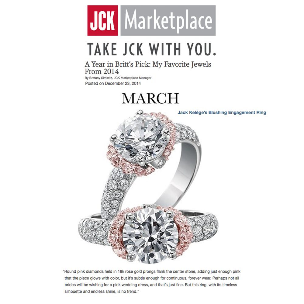 Wow! Thank you JCK Marketplacefor featuring multiple clients of ours: two striking rings from Sylvie Collection (above), Jack Kelege's blushing engagement ring, and Supreme Jewelry's dazzling ruby pendant (below).
