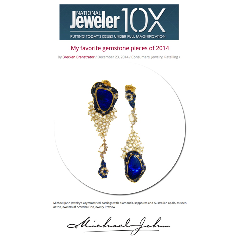 A fan favorite! Featured in National Jeweler, these dazzling Michael John diamondearrings are the perfect way to accessorize forthe Winter season.