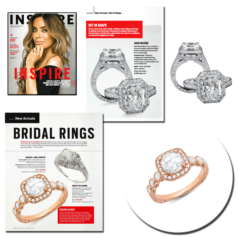Don't mind if we do! These breath-taking diamond rings, designed by Jack Kelege and Michael John Jewelry respectively, are featured in INSTORE magazine for all to admire.