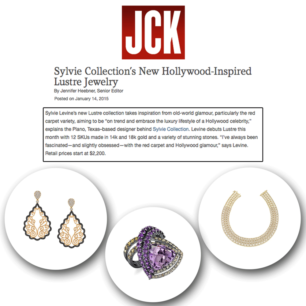 Accessories are an outfit's best friend! Thank you JCK Magazine for featuring these exquisite new Sylvie Collection pieces.