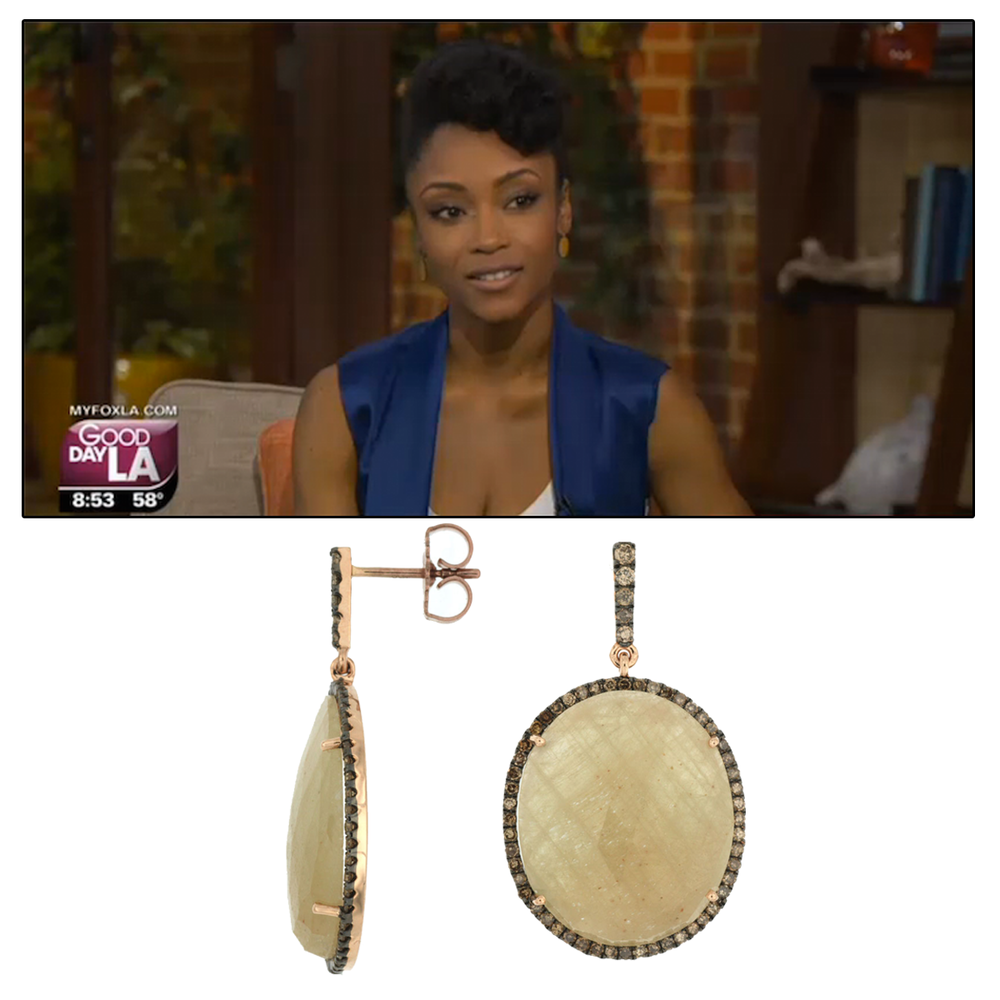 Simply stunning! Yaya Dacosta wore these big, bold & beautiful Royal Jewelry earrings on Good Day LA.