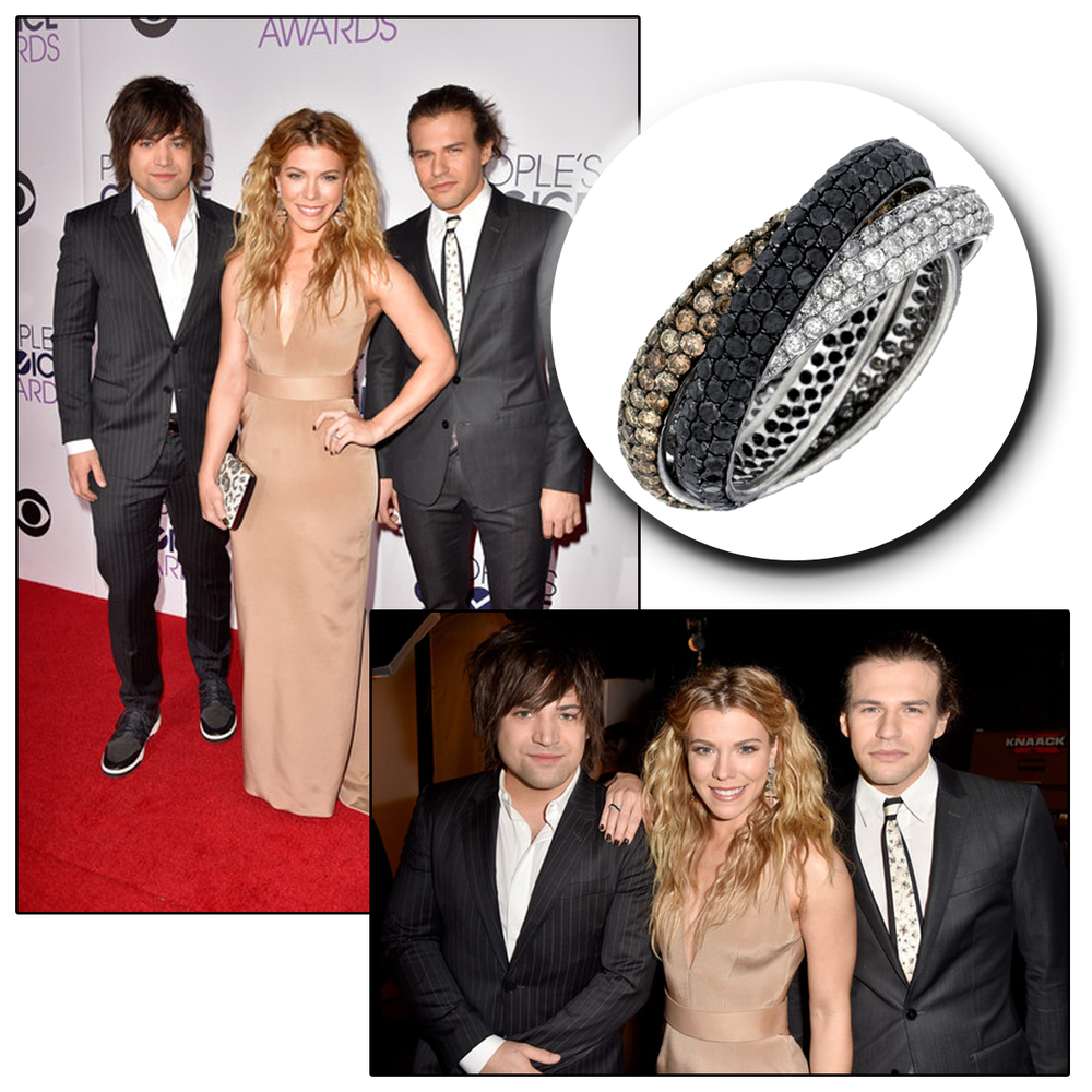 A true beauty! Kimberly Perry glitters on the red carpet in a Royal Jewelry fashion ring.