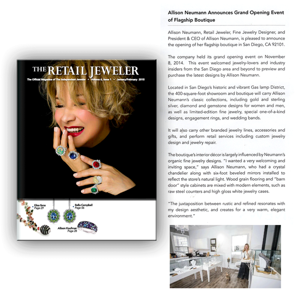 Lovely! Thank you The Retail Jeweler for featuring Allison Neumann and the Grand Opening Event of her Flagship Boutique.