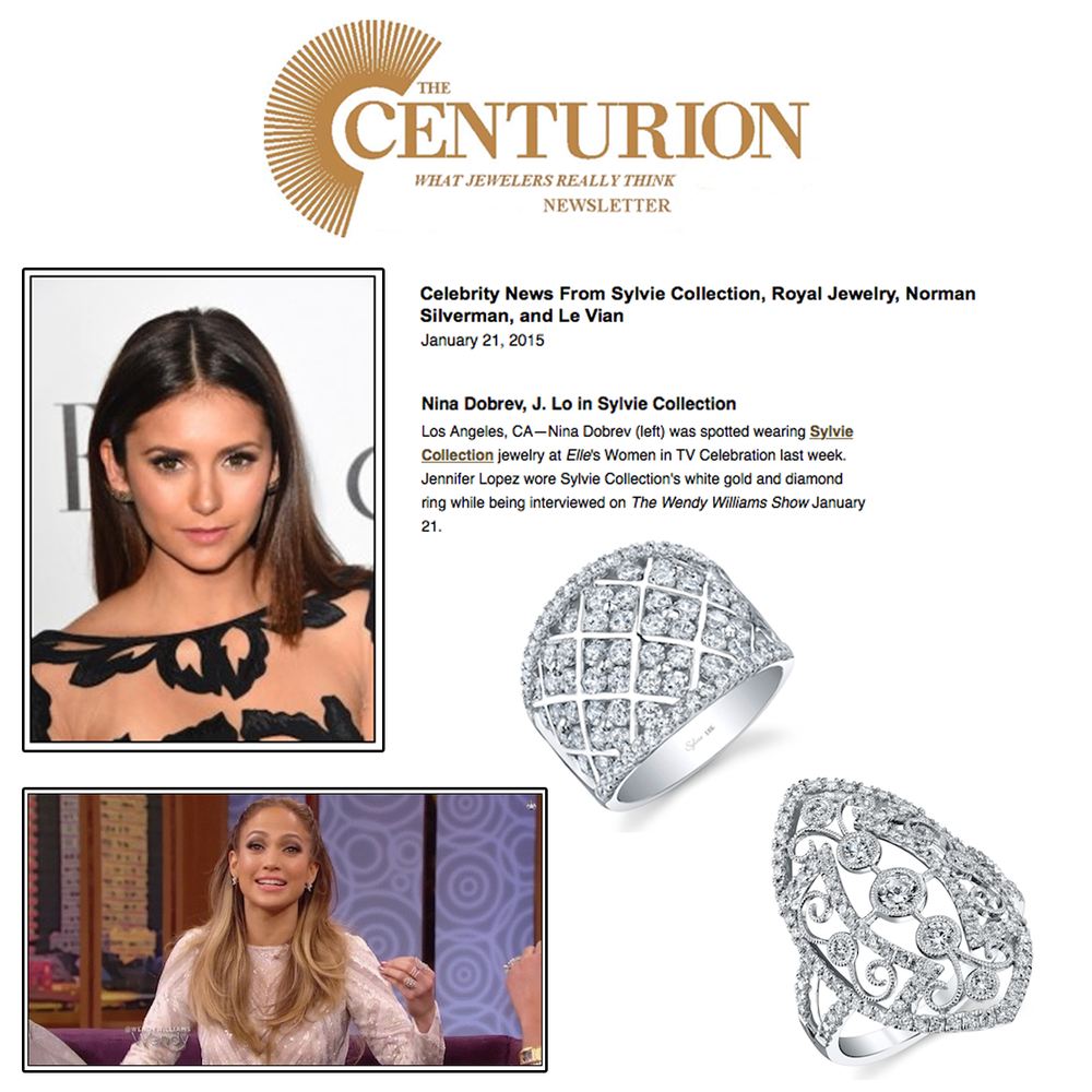 Check out these lovely ladies! Thank you The Centurion Newsletter for featuring these gorgeous diamond rings from Sylvie Collection.