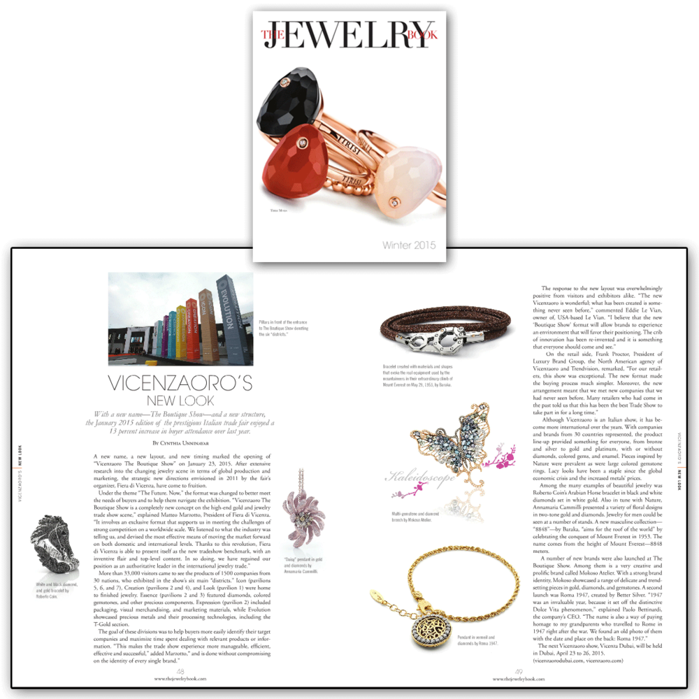 """VICENZAORO January 2015 was a huge success, with over 13% more buyers than ever before! Thank you The Jewelry Book for sharing the concept of the new and improved format entitled """"The Boutique Show!"""""""
