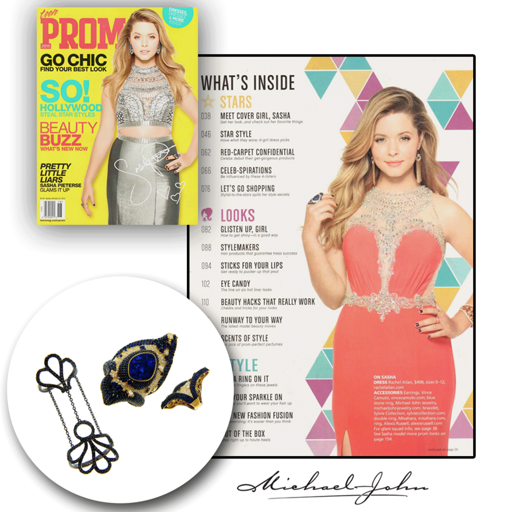 Style me pretty! How fashionable are these Michael John Jewelry fashion rings that were featured on the cover of Teen Prom?