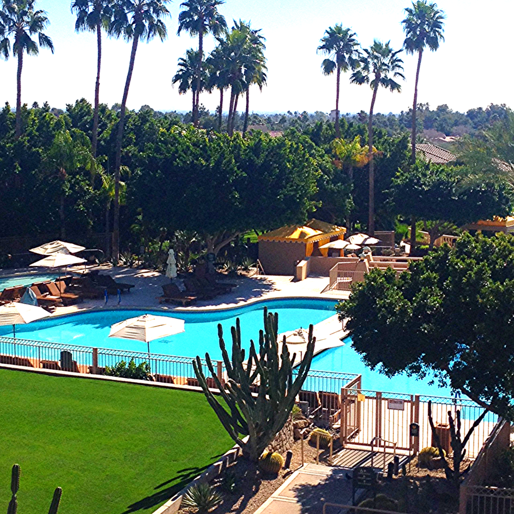 Sunny side Arizona welcomes the LBG team to the Centurion Show -what a gorgeous view!