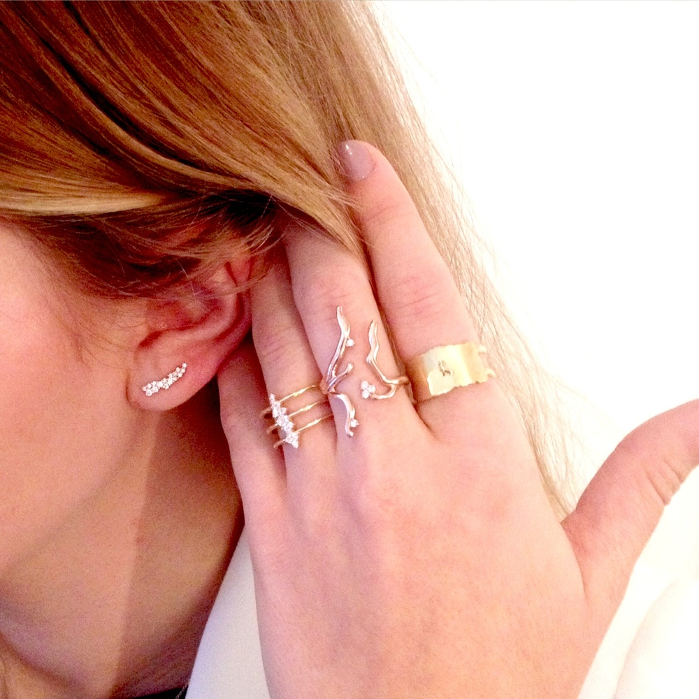 Deck your fingers with gold accessories! How trendy are these brand new Michael John Jewelry pieces?