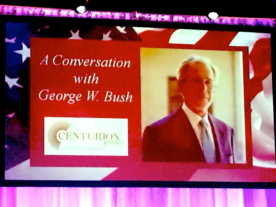 A perfect end to a perfect show! Let's havea friendlyconversation withthe43rd President of the United States, George W. Bush.
