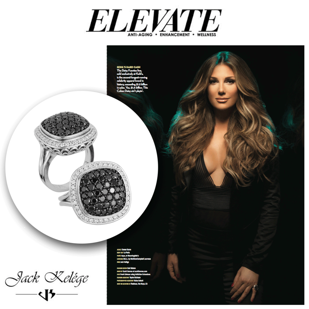 The ever so beautiful, Daisy Fuentes, glistens in her Jack Kelege fashion ring.