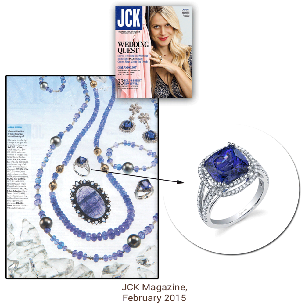 JCK blew our minds away! Thank you JCK Magazine for featuring two lovely pieces from Sylvie Collection: this dazzling white gold and diamond ring & the lovely rose gold and diamond ring (below).