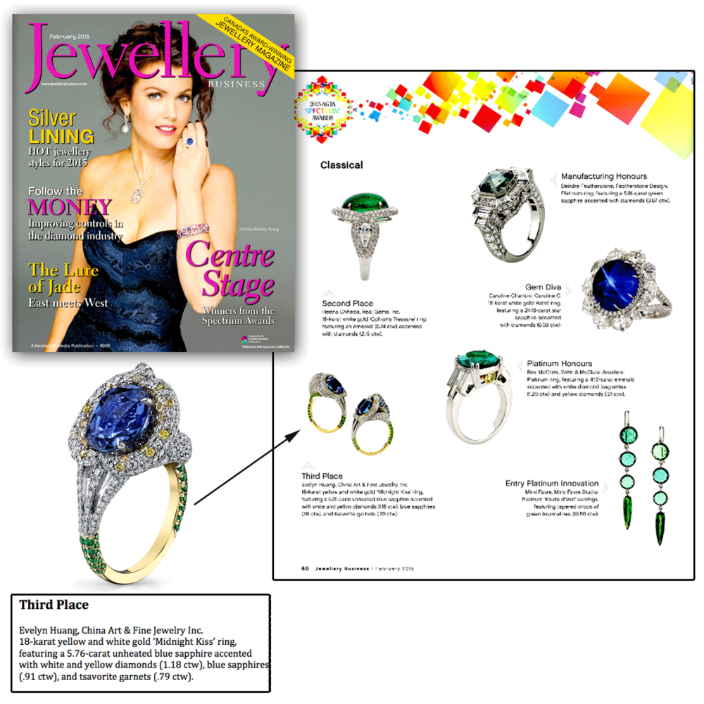 Send me a 'Midnight Kiss' goodbye! Thank you Jewellery Business for featuring Evelyn H's one-of-a-kind fashion ring, endlessly sprinkled with diamonds.