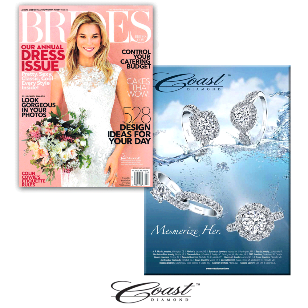 Thank you BRIDES for featuring Coast Diamond's exclusive advertisement within your latest issue!