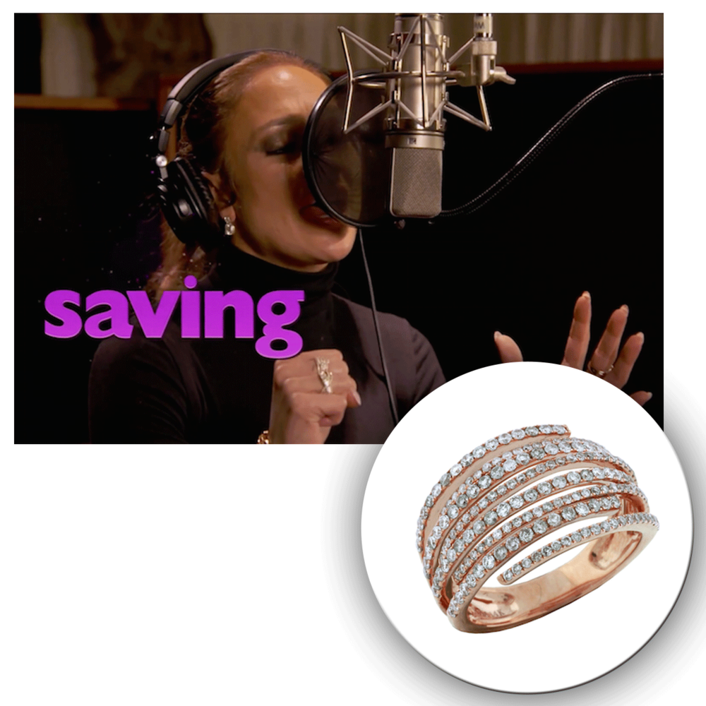 We spy the bold and beautiful Jennifer Lopez behind the scenes, shooting a promo piece for her new single & styled in a rose gold Royal Jewelry ring!