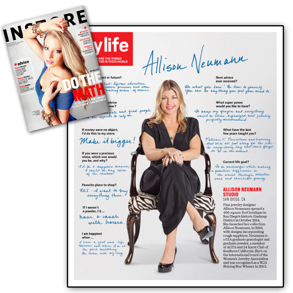 A day in the life of a designer! Thank you INSTORE for featuring a personalized interview with Allison Neumann.