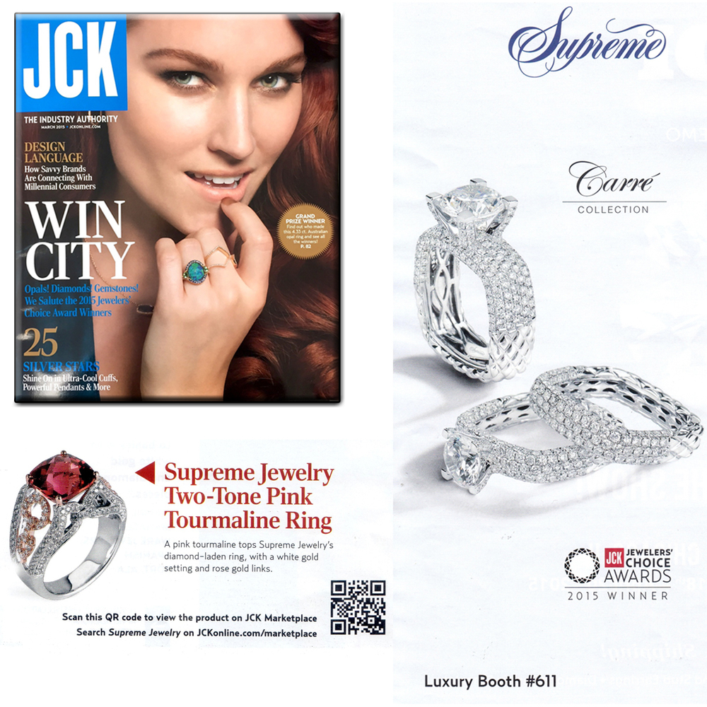 Oh so dreamy, oh so beautiful! Thank you JCK Magazine for featuring these absolutely stunning fine jewelry pieces from Supreme Jewelry!