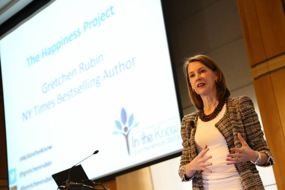 Gretchen Rubin, NY Times Bestselling Author, opens the conference with a talk on her recent book, The Happiness Project.
