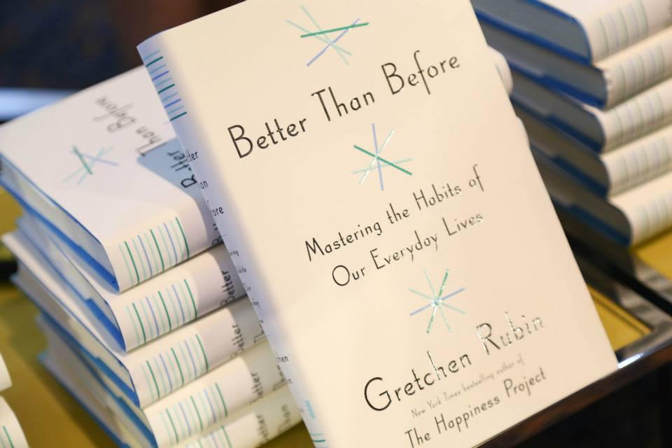 Time to peruse through Gretchen Rubin's masterpiece...