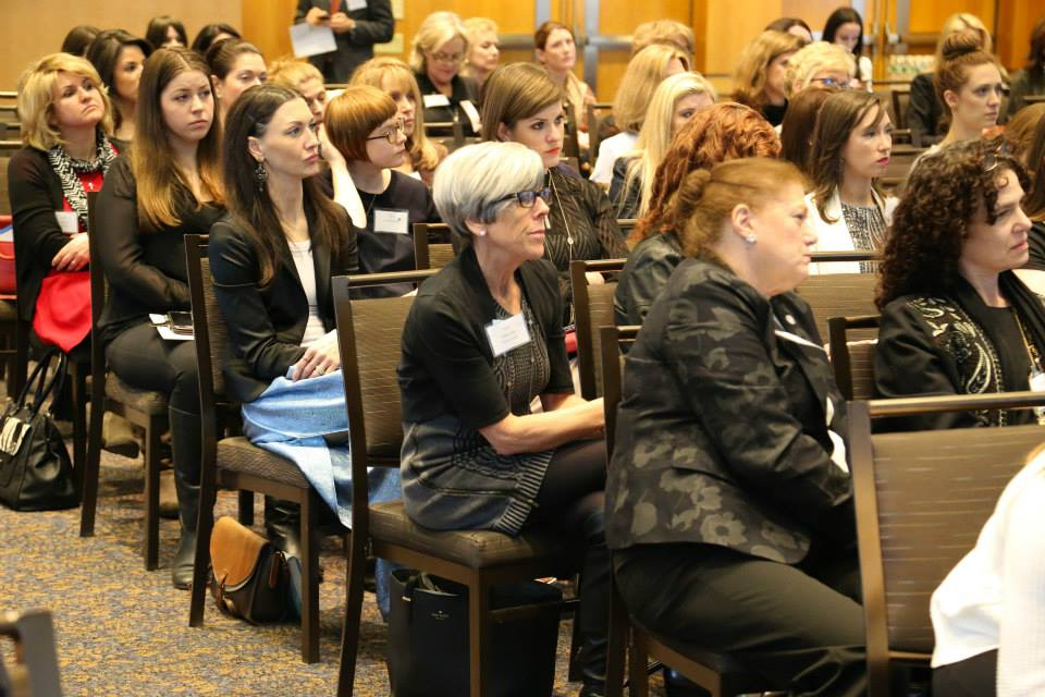 The fine and beautiful women of WJA attentively listening during the talks.