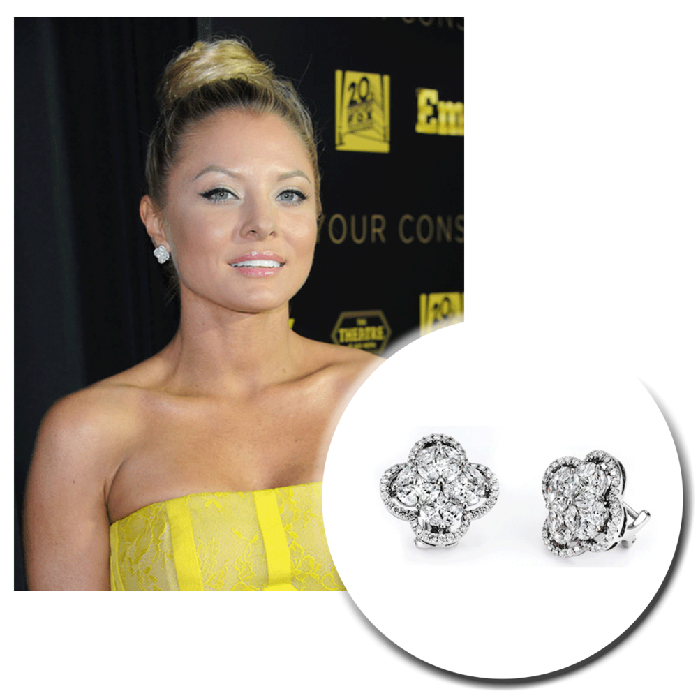 Glistening as bright as the sun on a summer morning, Kaitlin Doubleday shines in these stunning Supreme Jewelrywhite gold and diamond earrings!