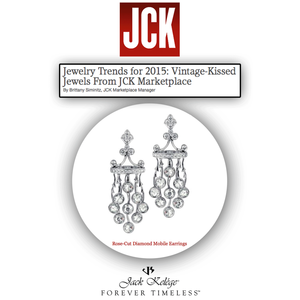 Vintage, yet oh so lovely! Thank you JCK Marketplace for featuring these one-of-a-kindJack Kelege rose-cut diamond earrings.