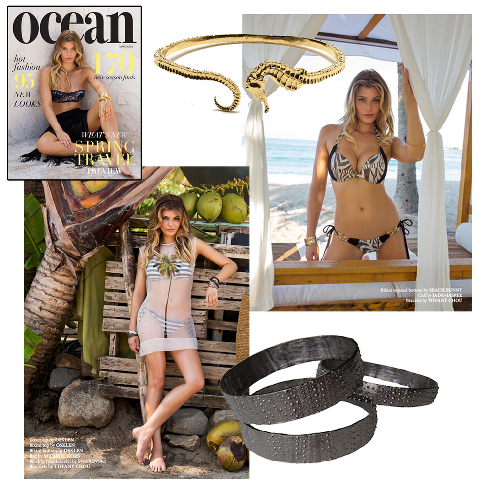 Hot fashion for the hot summer months! Thank you OCEANMagazine for featuring these one-of-a-kind Tiffany Chou bracelets.