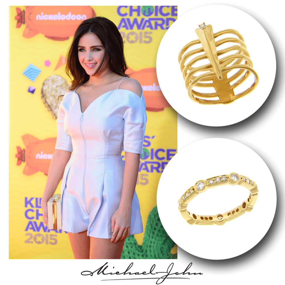 The chic and sultry, Ryan Newman, shines bright in these simple, yet oh so trendy Michael John Jewelry rings!