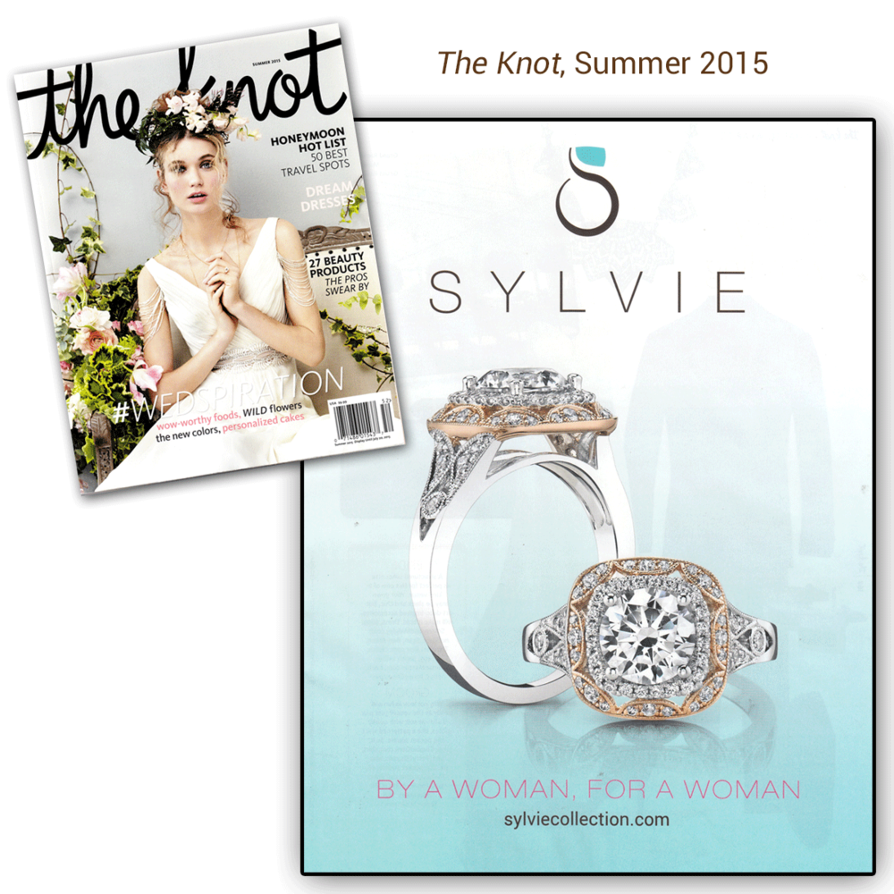 Sparkle with Sylvie Collection! Thank youThe Knotfor featuring Sylvie Collection's ad within your latest Spring/Summer 2015 issue!