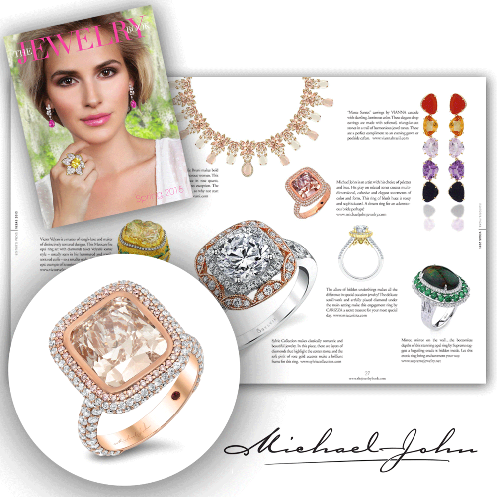 Sparkle me pretty, rose gold pretty that is! Thank you The Jewelry Book for featuring Michael John Jewelry's one-of-a-kind rose gold and diamond ring!