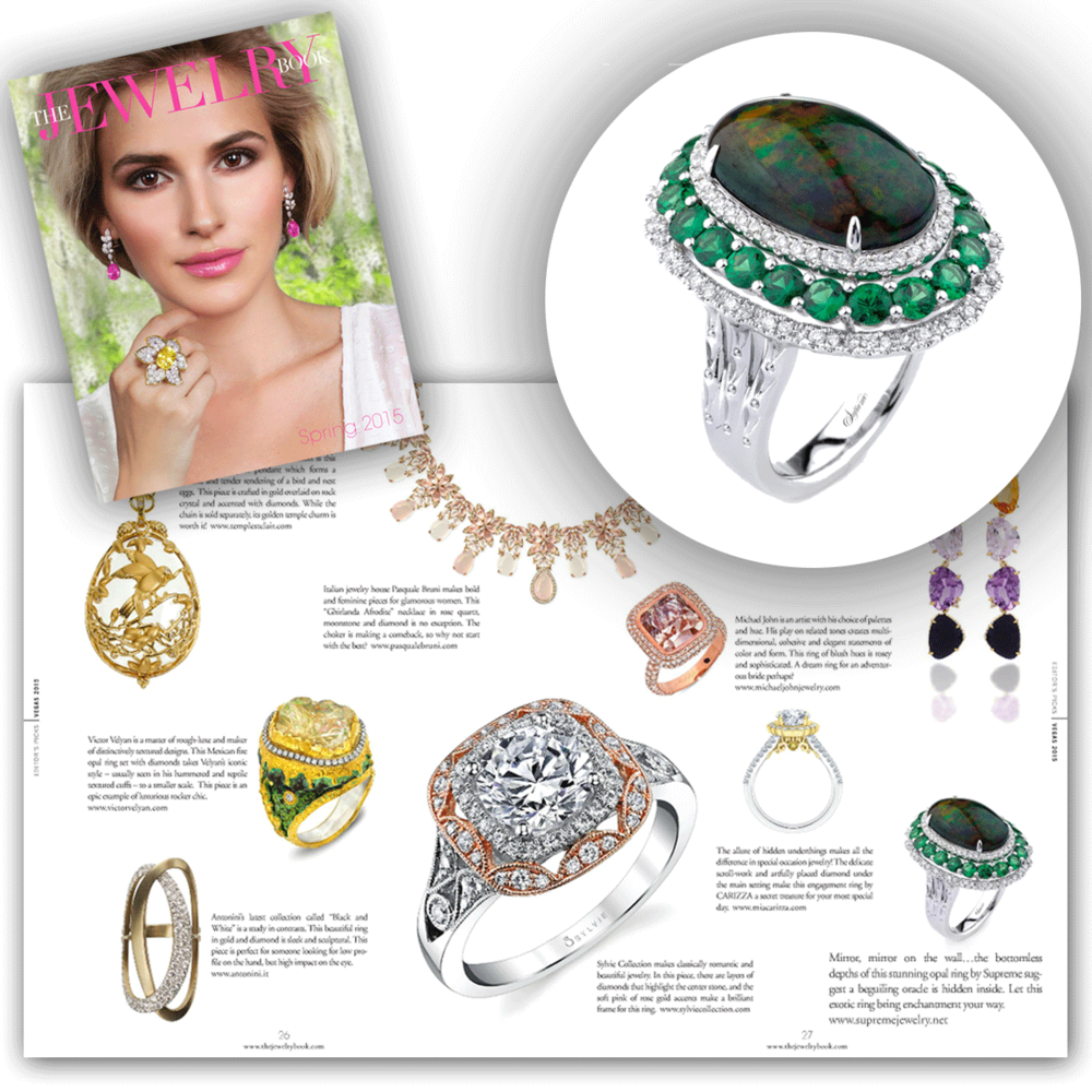 Green with envy! Thank you The Jewelry Book for featuring such an exotic white gold and diamond Supreme Jewelry ring!