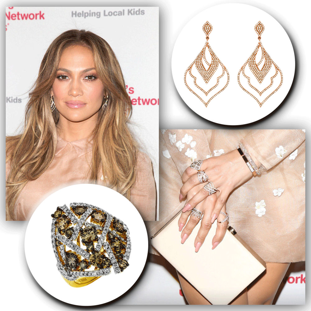 Oops, she does it again! The beautiful as can be, J-Lo, sparkles on the red carpet in Royal Jewelry bling!