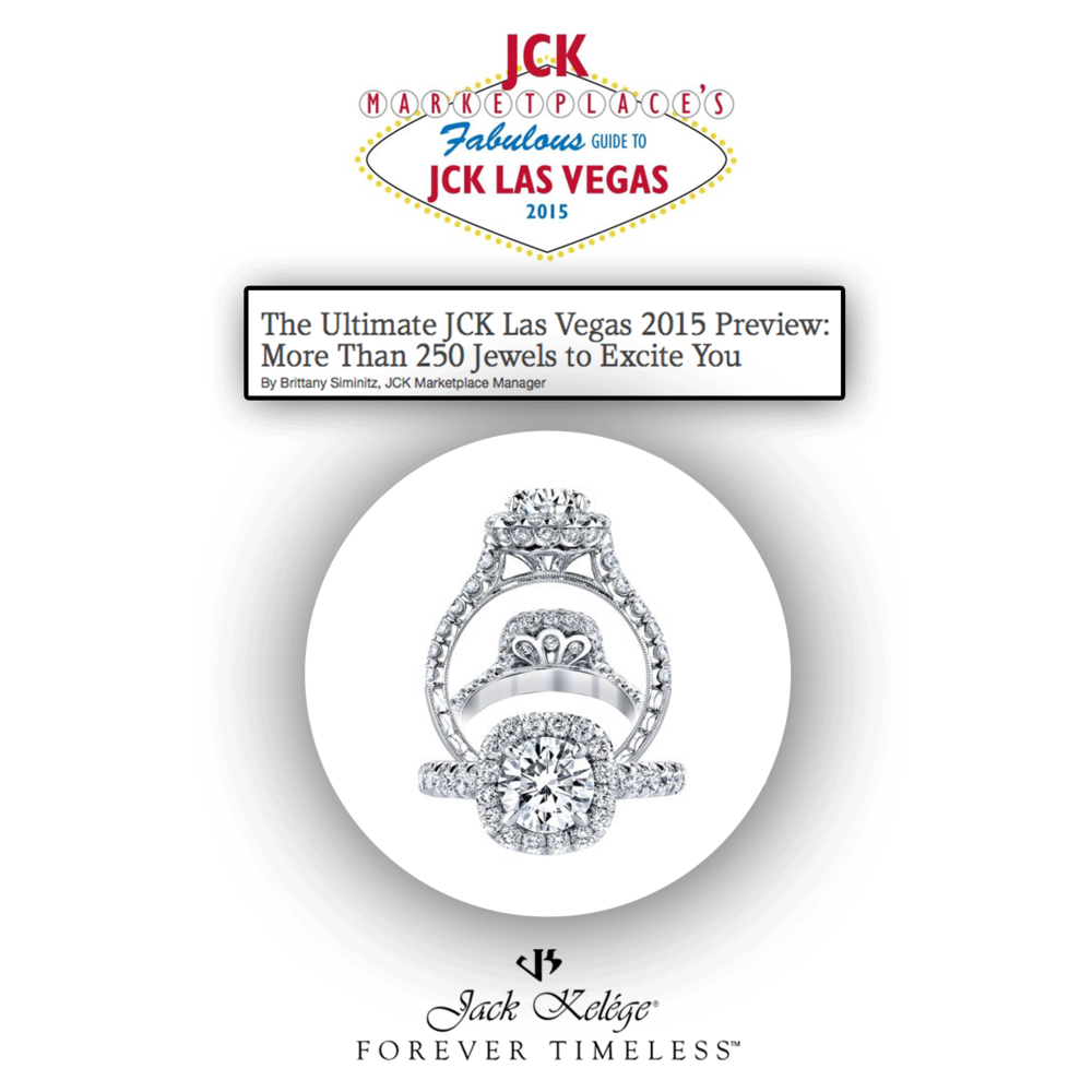 Thank you JCK Marketplace for featuring this lovely one-of-a-kind, stunning Jack Kelege white gold and diamond engagement ring!