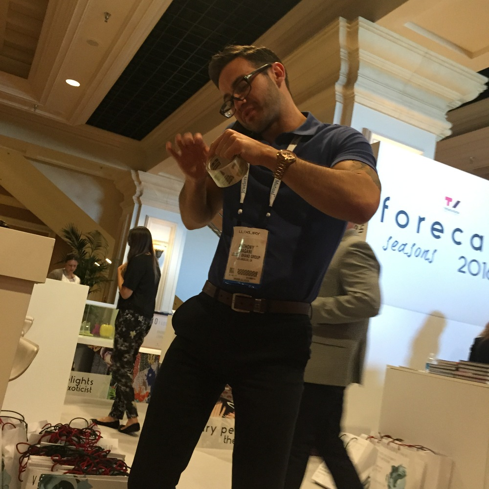Say hello to LBG's very own Showroom Manager, Anthony Magani, who so kindly is helping the VICENZAORO teamout at the TrendVision booth.
