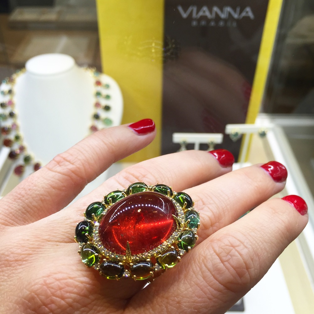 Can't forget the big, bold statement tourmaline pieces, brought to you by VIANNA BRASIL...
