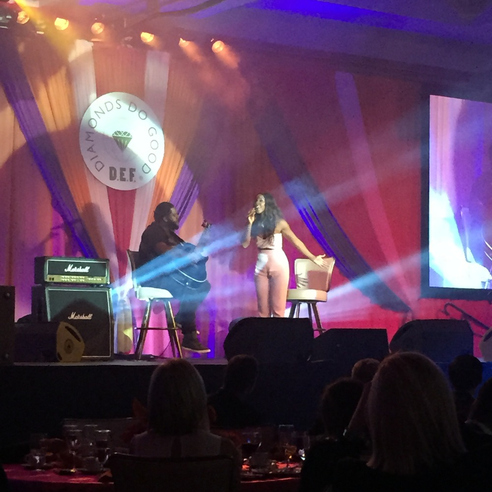 Now that we've gotten through days on days of hard work, it's time for LBG to help promote a good cause, withthe Diamond Empowerment Fund team! Here's to Kelly Rowland who performed at 2015Diamonds in the Sky Las Vegasevent!