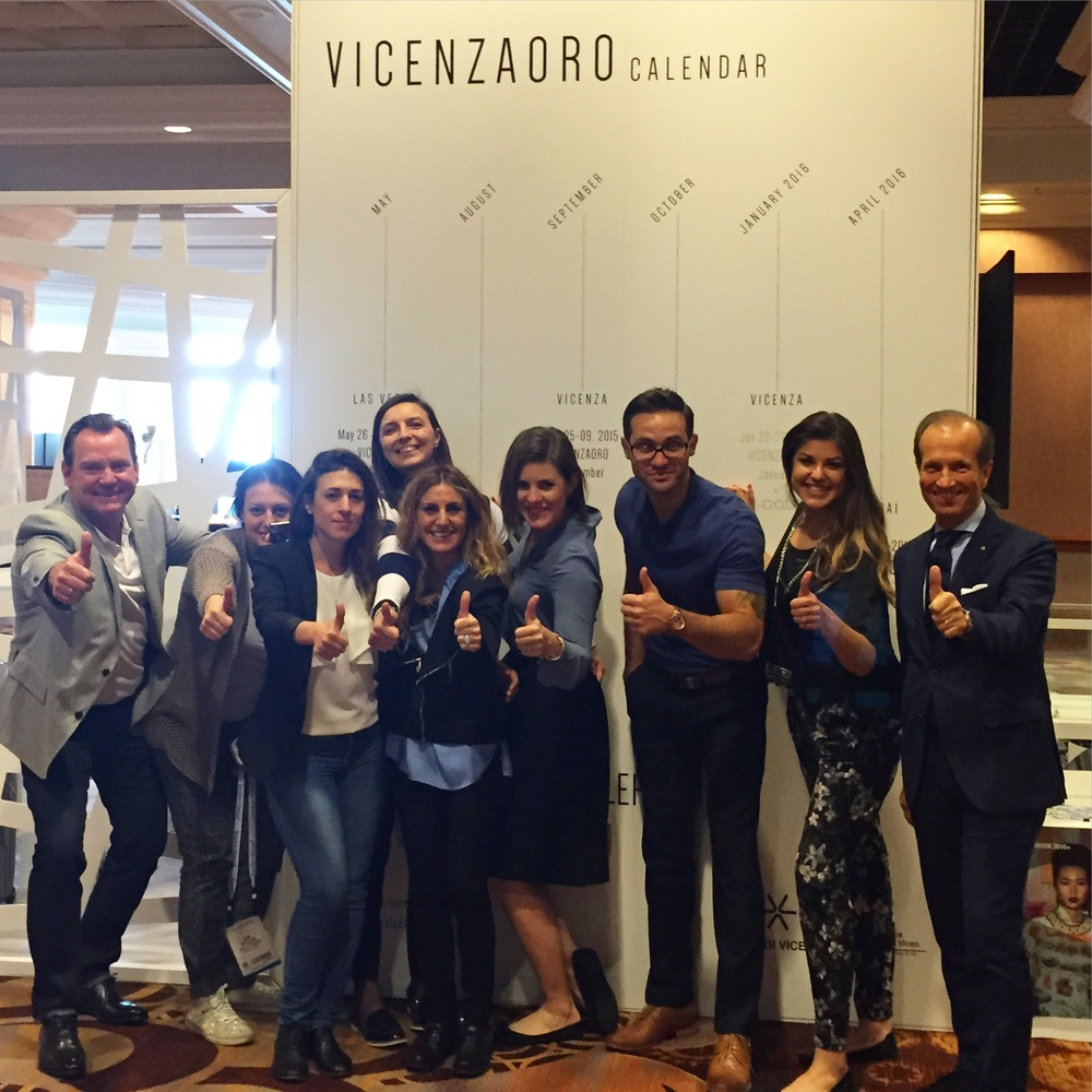 Thumbs up to a fantastic JCK Las Vegas this year! This is the VICENZAORO + LBG team signing out...