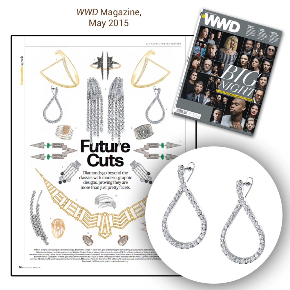 "Congrats to Sylvie Collection for the great feature within pages of WWD's May issue! Always designing ahead of the game, as shown in the ""Future Cuts"" section."