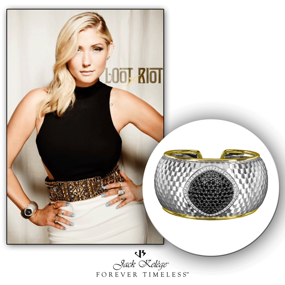 How stunning does Taylor Hasselhoff look in this intricately designed Jack Kelege statement cuff? We can't help but stare at this beauty!