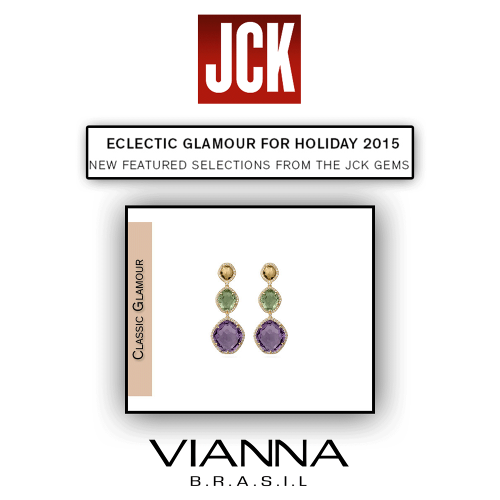 Just in time for the summer! Thank you JCK Marketplace for featuring these glamorous VIANNA BRASIL drop earrings!