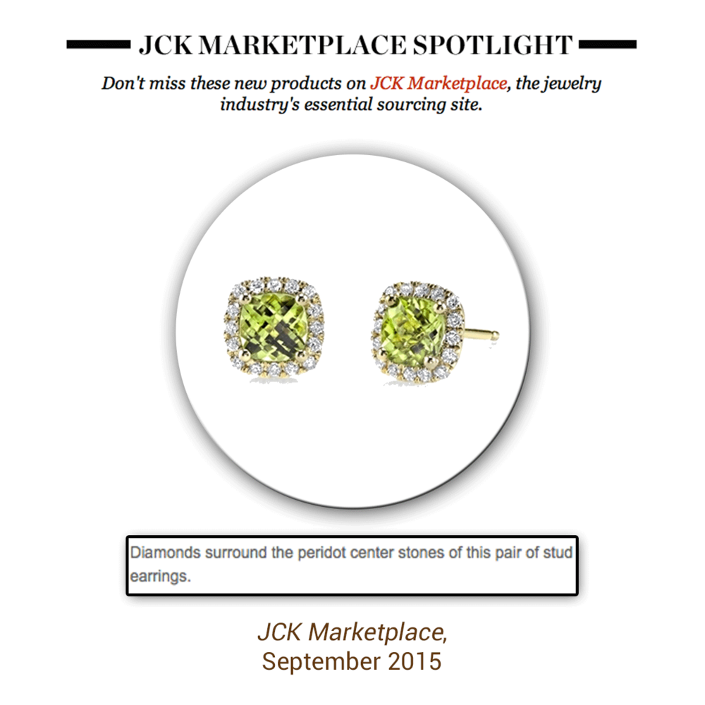 Every woman needs a one-of-a-kind stud in her life, especially this pair of Sylvie Collection peridot ones.