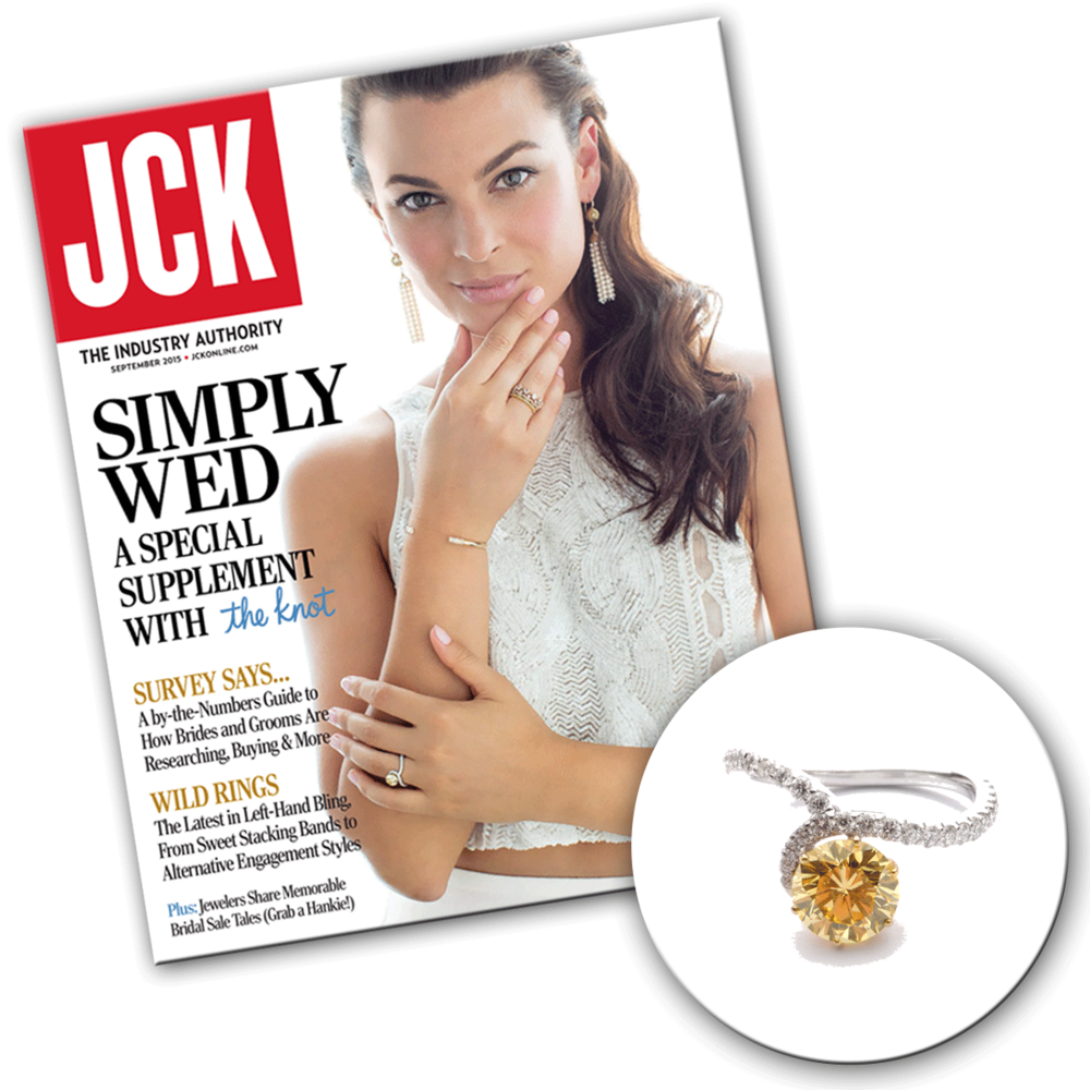 Simple, yet unique in its craft, this ring is a perfect way to show your lover how much she means to you! Thank you JCK Magazine for featuring this Vtse ring!